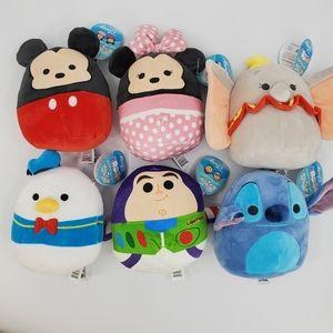 Squishmallows Disney 6 pc bundle Cuteness!